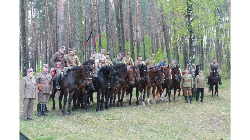 Ułani z wizytą w gminie Odrzywół